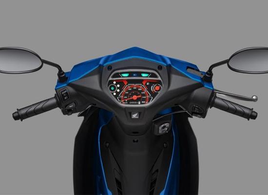 Honda Blade 2019 thay đổi về màu tem và thiết kế mặt đồng hồ